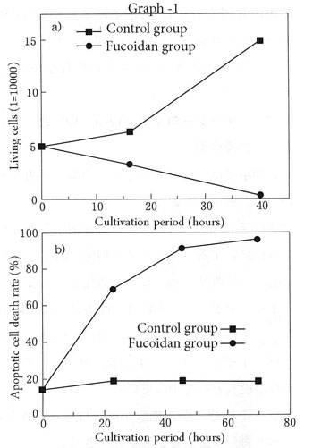 фукоидан - принуждение раковых клеток к апоптозу - график