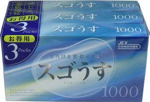 Incredibly Thin Condom 1000 (12 items x 3 packs)