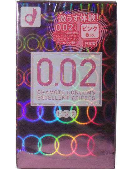 Презерватив 0.02 EX Excellent Uniform Thickness Pink (6 шт)_0