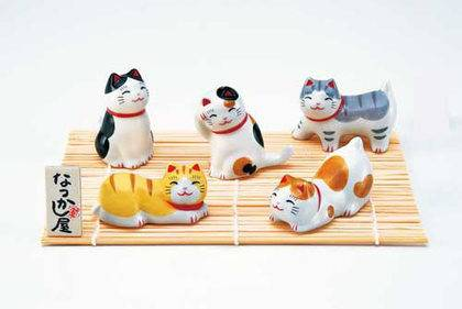 Okimono Cat Chopstick Rest Set_0