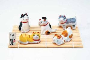 أوكيمونو مجموعة القطط المستجمة