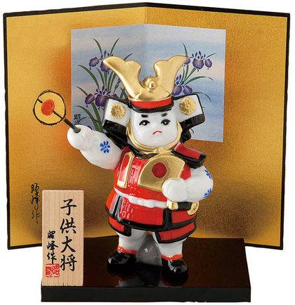 Heian Era Mischievous Child General (white porcelain) Figurine
