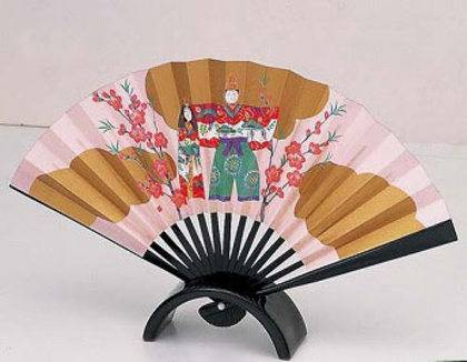 Okimono: Decorated for Hinamatsuri - the Girls' Festival - Fan_0
