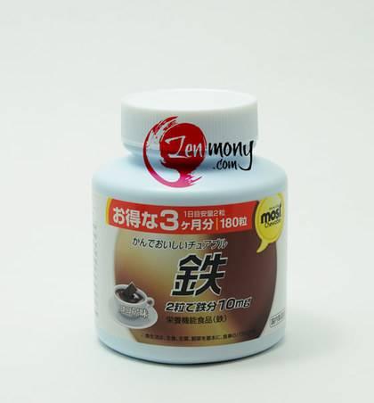Orihiro жевательные таблетки - железо (со вкусом какао)_0