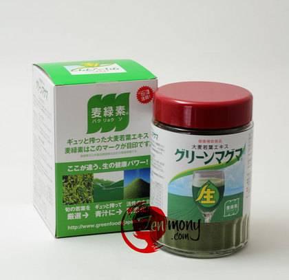 Органическая зеленая магма аоджиру из листьев ячменя 170г_0